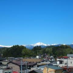 冬の北アルプス山脈